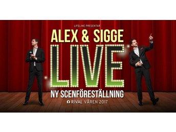 Alex & Sigge Live PREMIÄRBILJETT 1:a raden - Kiruna - Alex & Sigge Live PREMIÄRBILJETT 1:a raden - Kiruna