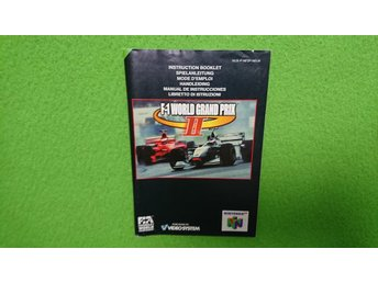 F1 World Grand Prix 2 Manual 64 N64 Nintendo 64 Instruktionsbok