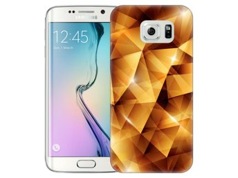 Samsung Galaxy S6 Edge Skal Golden Polygons