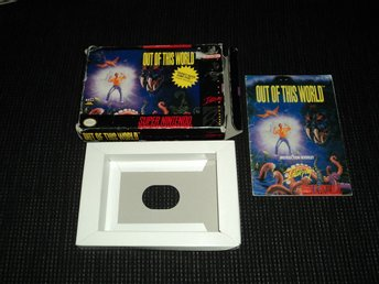 SNES Out of this World Another World Kartong + Manual SCN