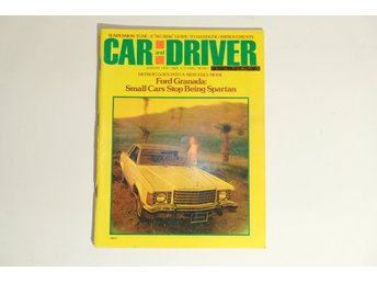 Car and Driver Aug 1974 Ford, FIAT X1/9,Lotus Elite mm FriFrakt