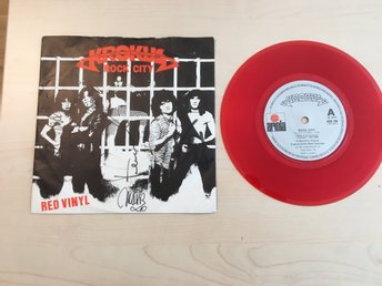 KROKUS / ROCK CITY PÅ RÖD VINYL FRÅN 1981 / MR SIXTY NINE / MAD RACKET.