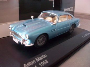 Aston Martin DB 4 ljusblå metallic 1958 limited 1:43, MINT!