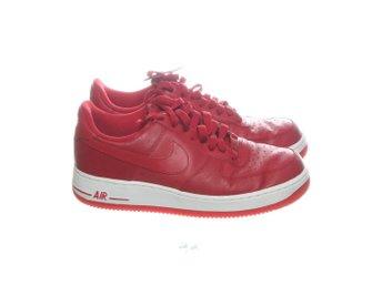 best sneakers 1b033 eaaab Nike, Sneakers, Strl  40.5, Air Force 1 Low, Röd Vit, Skinn
