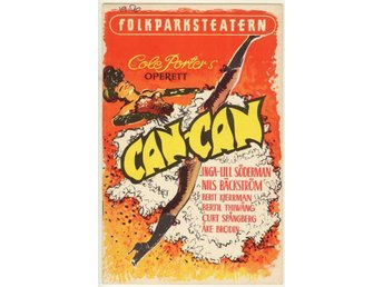 Can-Can. Program från Folkparksteatern 1956.