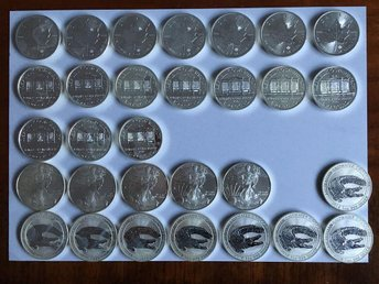 30 st 1oz silvermynt silver eagle , philharmonic , silver maple , saltwater croc