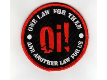 Oi! One law for them. - Tygmärke oi, punk, skinhead