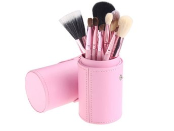 12pcs Professional Makeup brushes cosmetics kit + Hold Pink Free Shipping New