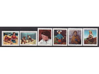 (FR1059) - DDR/Tyskland, 1968, 'Paintings from Dresden', POSTFRISKT. 6pcs,