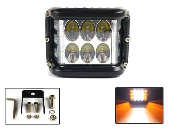 Led 60w arbetsljus m orange sido Cree led 12 - 24V spot