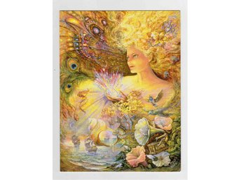 Dubbelt kuvertkort av Josephine Wall - Enchanted Universe
