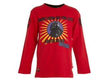 LEGO WEAR T-SHIRT, STAR WARS,'DARTH VADER', RÖD (128)