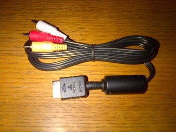 Playstation RCA A/V kabel PS1 PS2 PS3 Helt ny Sony Original