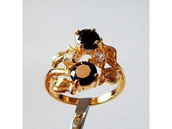 18 k gult guldfylld ring med cz strl ca 18 - Märsta - 18 k gult guldfylld ring med cz strl ca 18 - Märsta