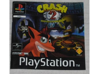 PlayStation PS1: Manual Instruktionsbok Crash 2 (svensk)