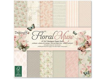 Scrapbooking papper 20 x 20 - Floral Muse - 12 ark