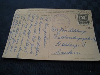 SWEDISH AMERICAN LINE POSTED 0N BOARD M/S KUNGSHOLM 12.1.57 GÖTEBORG NEW YORK