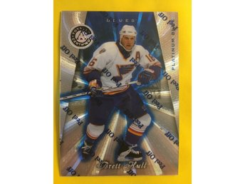 BRETT HULL: 1997-98 Pinnacle Totally Certified Platinum Blue #70 3099ex