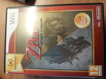 Nintendo Wii -The Legend Of Zelda Twilight Princess  - fint beg skick !