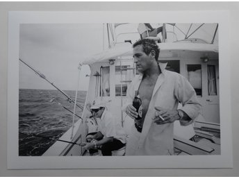 PAUL NEWMAN - 'Fishing', Florida 1967 - Kaufmann - *A4*-print NME!