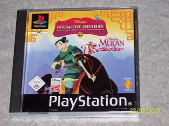 PlayStation Spel Disneys Interaktive Abenteuer, Mulan (Komplett)