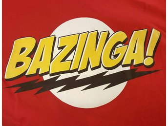 Big bang Theory Bazinga tshirt storlek Large