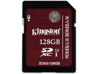 Kingston 128GB SDXC UHS-I Speed Class 3 90MB/s read 80MB/s write