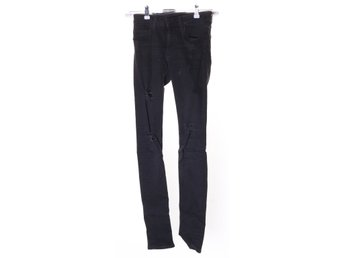 Zara Woman, Byxor, Strl: 34, slim fit, Svart