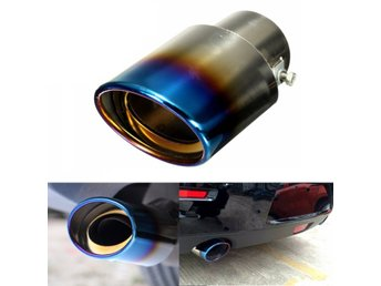 1Pcs Universal Car Auto Stainless Steel Exhaust Muffler T...