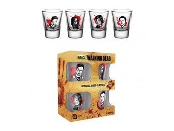 The Walking Dead Snapsglas 4-pack