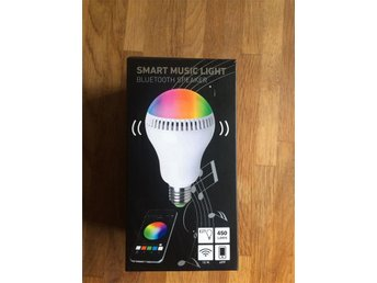 Julklapp Smart music light discolampa Högtalare android iOS