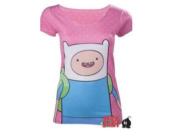 Adventure Time Dotted Finn Tjej T-Shirt Rosa (Large)