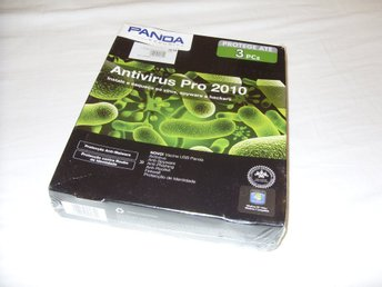 Panda Antivirus Pro 2010 3 PC datorer 1 år Ny! Antivirus Windows 7