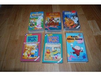 VHS film, 6st VHS filmer Alfons, Nalle Puh, Casper, Scooby-Doo - Växjö - VHS film, 6st VHS filmer Alfons, Nalle Puh, Casper, Scooby-Doo - Växjö