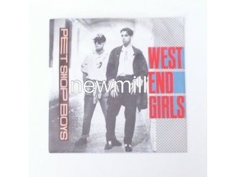 "Pet Shop Boys West End Girls 7""singel 1985 MEGA hit"