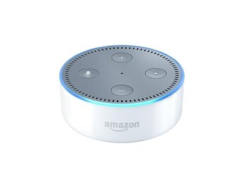 New Amazon Echo Dot (Alexa) 2nd gen. Vit Sv. adapter - Ny i kartong (inplastad)