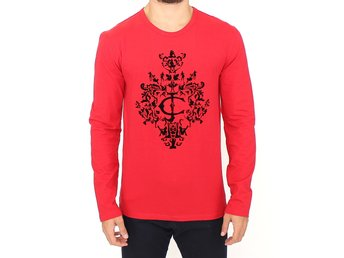 Cavalli - Red stretch pullover sweater