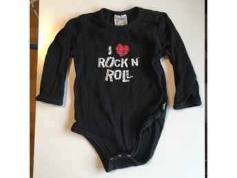 Svart body strl 74 - I love Rock n roll - hårdrock metal
