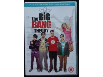 DVD – Box The Big Bang Theory, The Complete Second Season. Svensk text. 7 tim 41