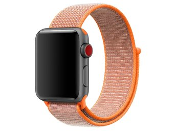 Nylon Loop 42/44mm Apple Watch Armband - (SPICY ORANGE)