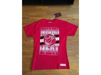 Miami Heat NBA T-Shirt Mitchell & Ness M&N Medium