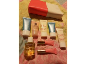 Clarins och clinique. Hydraquench. Moisture surge. Body oil. Cleanser.