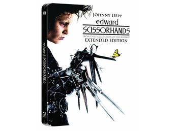 Edward Scissorhands (Limited STEELBOOK) Johnny Depp, Tim Burton (SVÅR) OOP