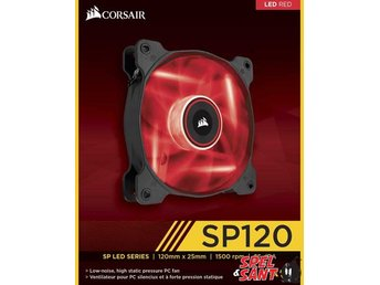 Corsair Air Series SP120 LED Red High Static Pressure 120mm Fläkt