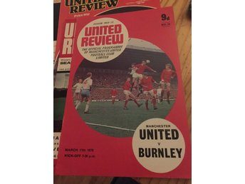 FOTBOLL Program Manchester United FC v Burnley 17/3 1970 George Best