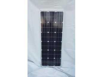 Solpanel Solcell Typ Smal 100W *NY* A Grade Monocrystalline