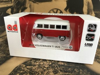 NY Retro 1963 Volkswagen T1 Bus 8GB USB-Minne RÖD