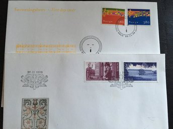FDC Norge 2 stycken 1998