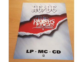 ACDC THE RAZORS EDGE 1990 POSTER