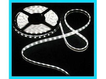 NYA! DeluX 5m SMD LED Slinga Tape 300LED IP66  Kall-Vit